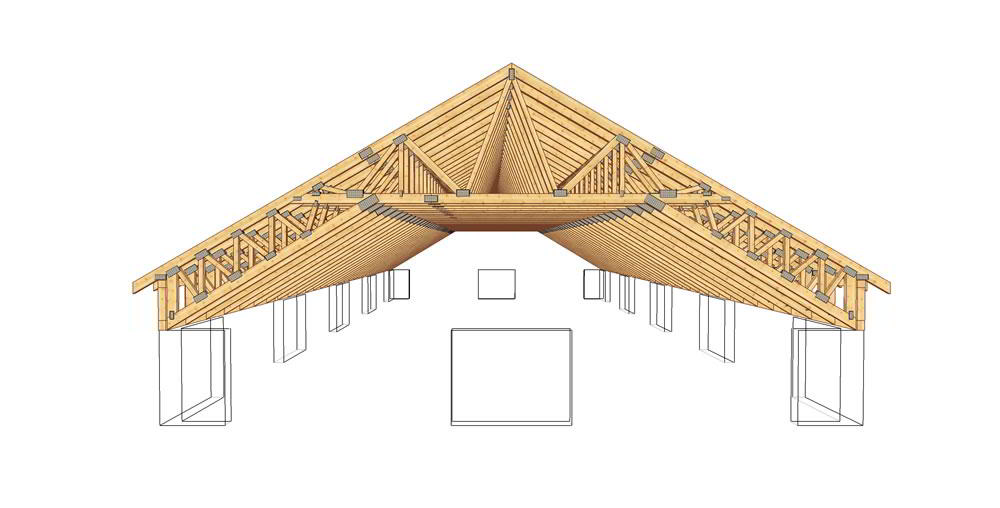Calculation of wooden trusses shed roof  Steel truss and