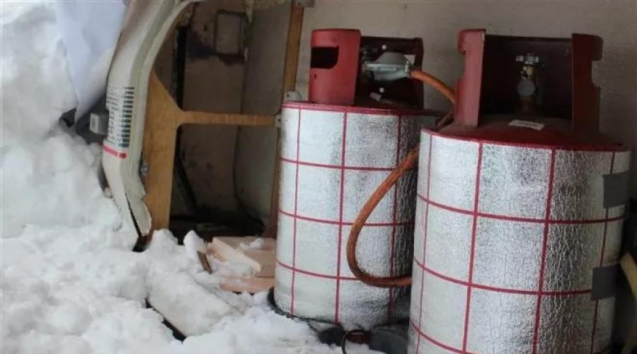 Gázpalack tárolása hidegben