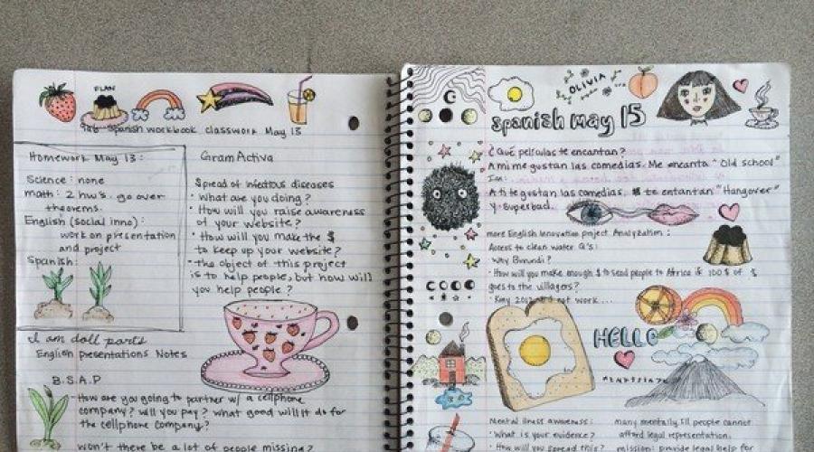 Идеи для лд для 12 лет. Как оформить личный дневник: идеи для лд